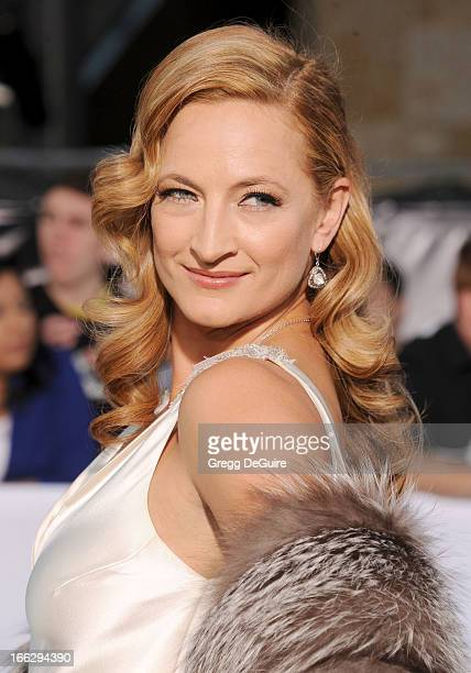 Actress Zoe Bell arrives at the Los Angeles premiere of 'Oblivion' at Dolby Theatre on April 10 2013 in Hollywood California