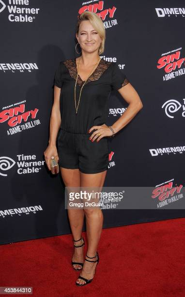 Actress Zoe Bell arrives at the Los Angeles premiere of Sin City A Dame To Kill For at TCL Chinese Theatre on August 19 2014 in Hollywood California