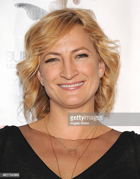 Actress Zoe Bell arrives at the screening of Roadside Attractions Day 28 Films Gimme Shelter at the Egyptian Theatre on January 14 2014 in Hollywood...