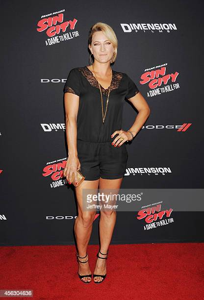 Actress Zoe Bell arrives at the 'Sin City A Dame To Kill For' Los Angeles Premiere at TCL Chinese Theatre on August 19 2014 in Hollywood California