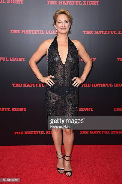 Actress Zoe Bell attends the New York premiere of The Hateful Eight on December 14 2015 in New York City