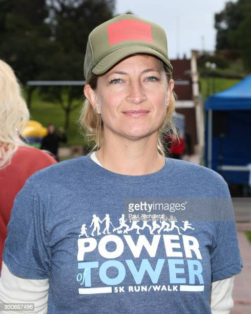 Actress Zoe Bell attends the Power Of Tower run/walk at UCLA on March 11 2018 in Los Angeles California