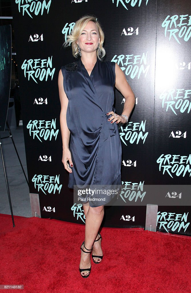 Actress Zoe Bell attends the Premiere of A24's 'Green Room' at ArcLight Hollywood on April 13, 2016 in Hollywood, California.