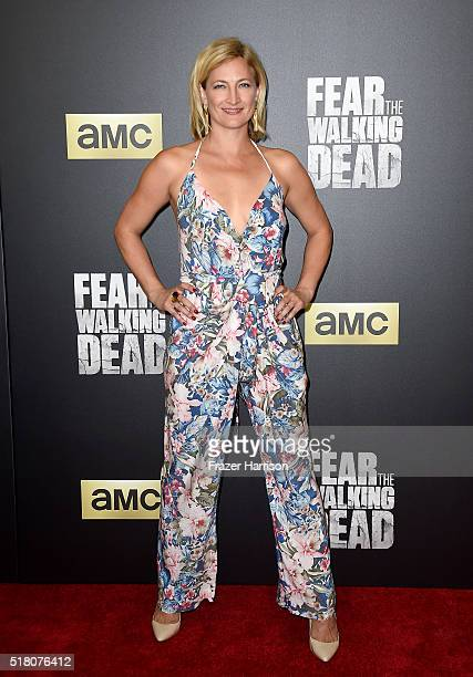 Actress Zoe Bell attends the premiere of AMC's 'Fear The Walking Dead' Season 2 at Cinemark Playa Vista on March 29 2016 in Los Angeles California