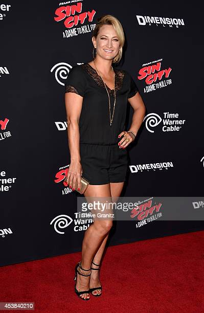 Actress Zoe Bell attends the Sin City A Dame To Kill For Los Angeles premiere at TCL Chinese Theatre on August 19 2014 in Hollywood California