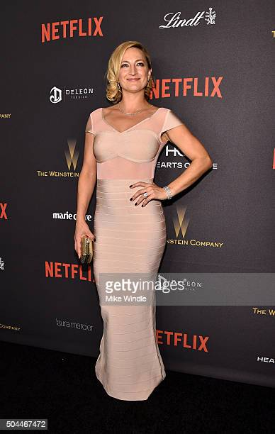 Actress Zoe Bell attends The Weinstein Company and Netflix Golden Globe Party, presented with DeLeon Tequila, Laura Mercier, Lindt Chocolate, Marie...