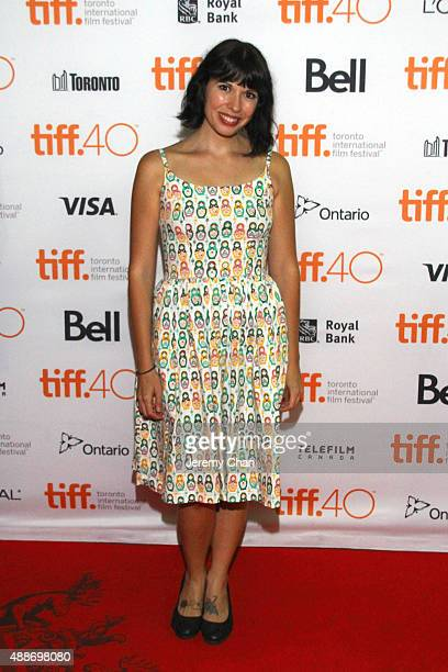 Actress Zoe Cooper attends the Southbound photo call during the 2015 Toronto International Film Festival at Ryerson Theatre on September 16 2015 in...