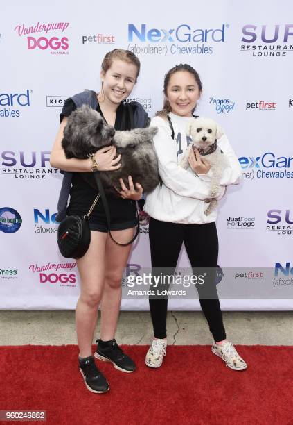 Actress Zoe Etzweiler and Amy Baldwin attend the Lisa Vanderpump and The Vanderpump Dog Foundation's 3rd Annual World Dog Day at West Hollywood Park...