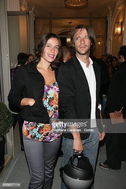 Actress Zoe Felix aand date Benjamin Rolland attend the new Espace Payot Spa Launch in Paris