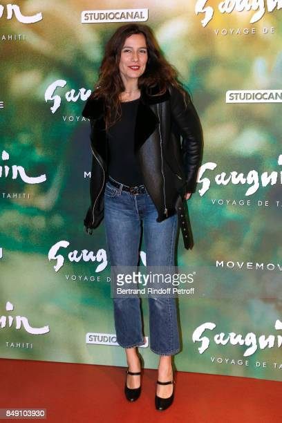 Actress Zoe Felix attends the Gauguin Voyage de Tahiti Paris Premiere at Cinema Gaumont Capucine on September 18 2017 in Paris France