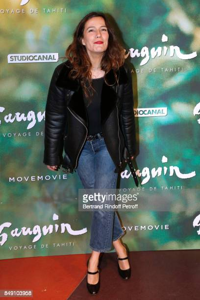 Actress Zoe Felix attends the 'Gauguin Voyage de Tahiti' Paris Premiere at Cinema Gaumont Capucine on September 18 2017 in Paris France