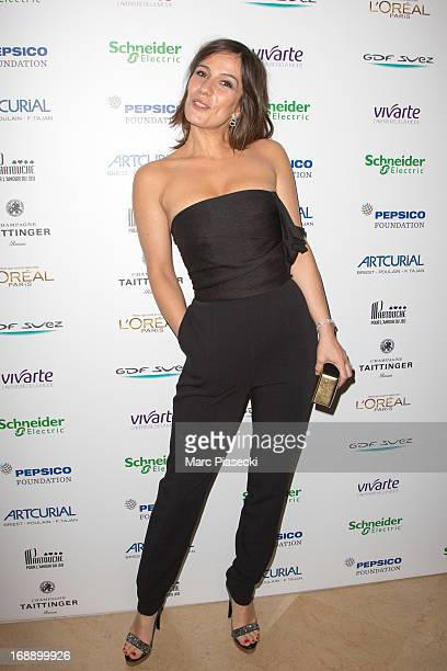 Actress Zoe Felix attends the 'Planet Finance' dinner photocall at the 'Carlton' hotel during the 66th annual Cannes Film Festival on May 16 2013 in...
