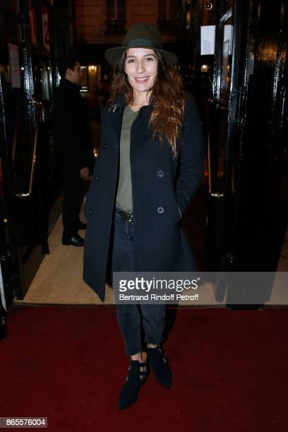 Actress Zoe Felix attends the 'Ramses II' Theater Play at Theatre des Bouffes Parisiens on October 23 2017 in Paris France