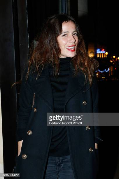 Actress Zoe Felix attends the Tribute to Actress Jeanne Moreau at Odeon Theatre on December 4 2017 in Paris France