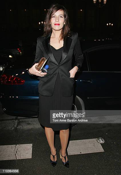 Actress Zoe Felix attends the Yves Saint Laurent Fashion show during Paris Fashion Week FallWinter 20082009 at the Grand Palais on February 28 2008...