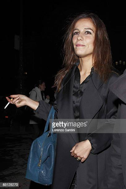 Actress Zoe Felix attends the Yves Saint Laurent fashion show during Paris at Grand Palais on October 2 2008 in Paris France