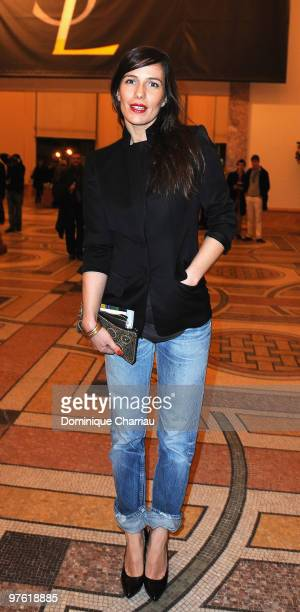 Actress Zoe Felix attends the Yves SaintLaurent Exhibition Launch at Le Petit Palais on March 10 2010 in Paris France