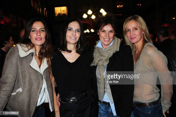 Actress Zoe Felix fashion designer Nathalie Garcon actresses Claire Nebout and Catherine Marchal attend the Nathalie Garcon Pop up Store Launch Party...