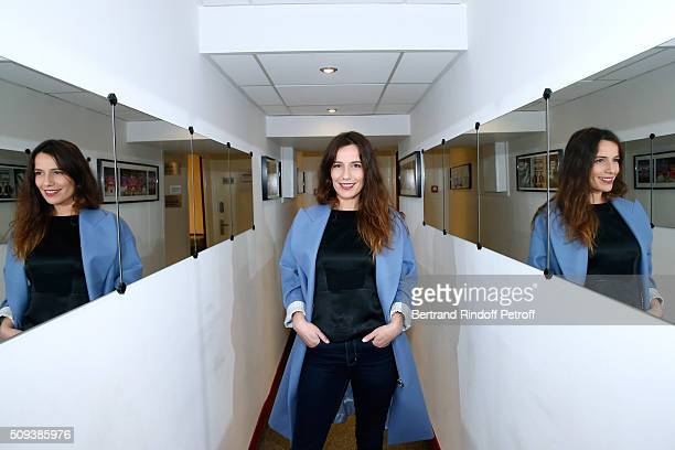Actress Zoe Felix presents the Theater Play 'Je vous ecoute' performed at Theatre Tristan Bernard during the 'Vivement Dimanche' French TV Show at...