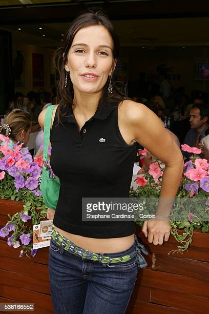 Actress Zoe Felix visits the Roland Garros village during the 2004 French Open Tennis