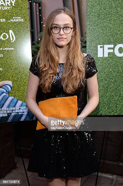 Actress Zoe Graham attends the AMC Networks and IFC Films Spirit Awards After Party on February 21 2015 in Santa Monica California