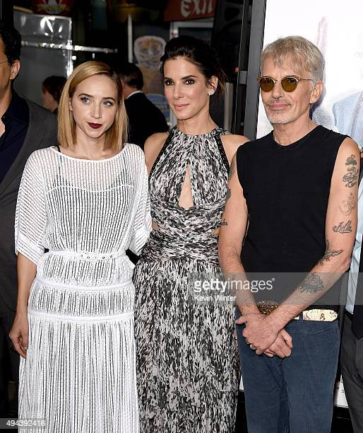 Actress Zoe Kazan actress/producer Sandra Bullock and actor Billy Bob Thornton attend the premiere of Warner Bros Pictures' Our Brand Is Crisis at...