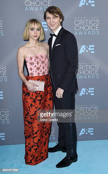 Actress Zoe Kazan and actor Paul Dano attend the 21st Annual Critics' Choice Awards at Barker Hangar on January 17 2016 in Santa Monica California