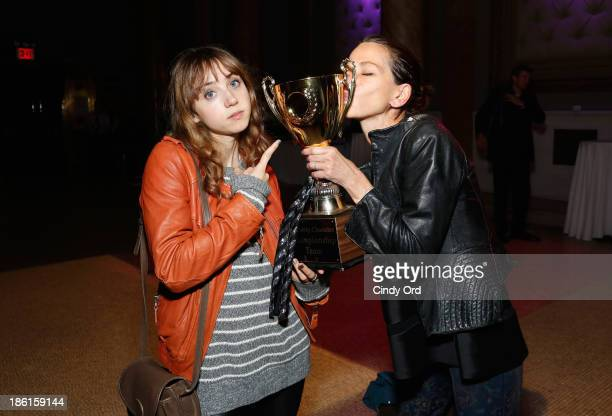 Actress Zoe Kazan and designer Cynthia Rowley attend LAByrinth Theater Company Celebrity Charades 2013 Benefit Gala on October 28 2013 in New York...