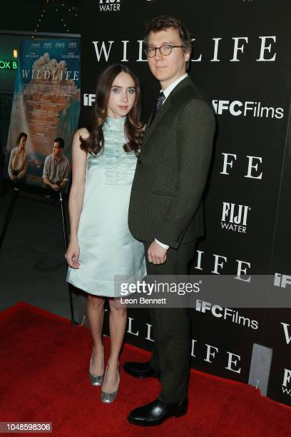 Actress Zoe Kazan and director Paul Dano attends Los Angeles Premiere For IFC Films' 'Wildlife' at ArcLight Hollywood on October 9 2018 in Hollywood...