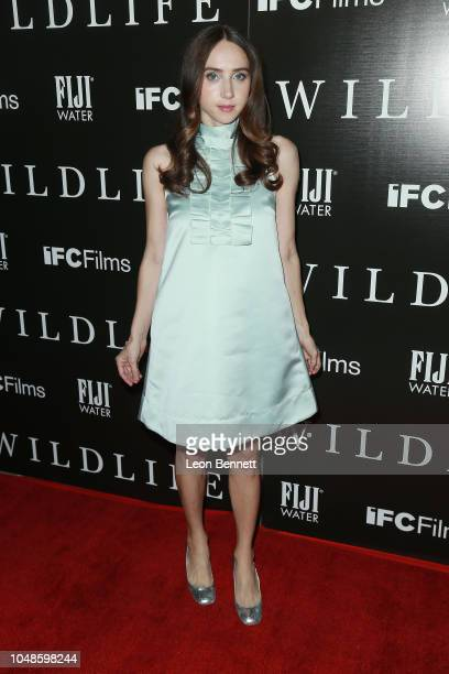 Actress Zoe Kazan attends Los Angeles Premiere For IFC Films' 'Wildlife' at ArcLight Hollywood on October 9 2018 in Hollywood California