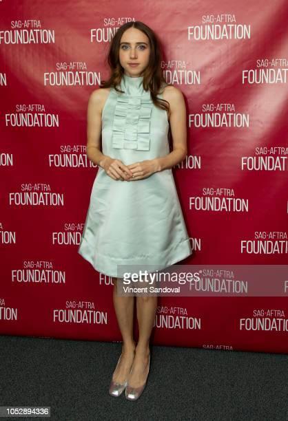 Actress Zoe Kazan attends SAGAFTRA Foundation Conversations screening of Wildlife at SAGAFTRA Foundation Screening Room on October 9 2018 in Los...