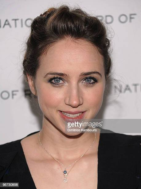 Actress Zoe Kazan attends the 2010 National Board of Review Awards Gala at Cipriani 42nd Street on January 12 2010 in New York City
