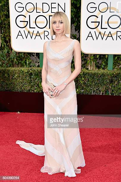 Actress Zoe Kazan attends the 73rd Annual Golden Globe Awards held at the Beverly Hilton Hotel on January 10 2016 in Beverly Hills California