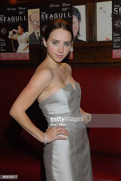 Actress Zoe Kazan attends the after party for the opening night of The Seagull on Broadway at Sardi's on October 2 2008 in New York City