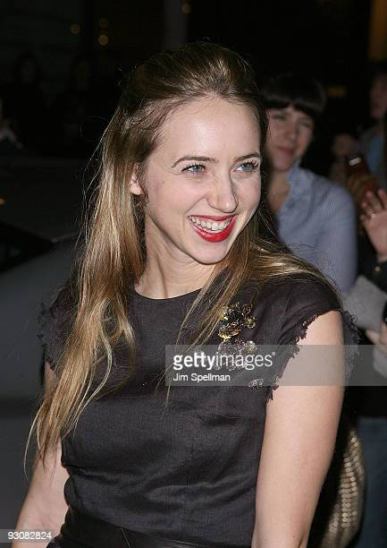 Actress Zoe Kazan attends The Cinema Society A Diamond Is Forever screening of 'The Private Lives Of Pippa Lee' at AMC Loews 19th Street on November...