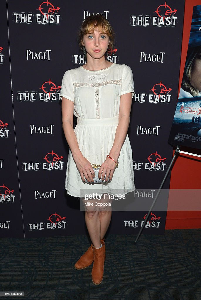 Actress Zoe Kazan attends the New York premiere of 'The East' at Sunshine Landmark on May 20, 2013 in New York City.