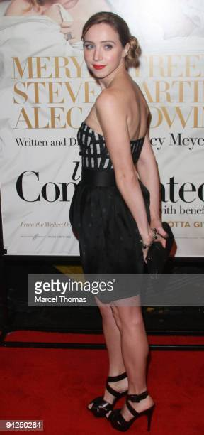 Actress Zoe Kazan attends the New York premiere of the movie 'It's Complicated' held at the Paris theater in Manhattan on December 9 2009 in New York...
