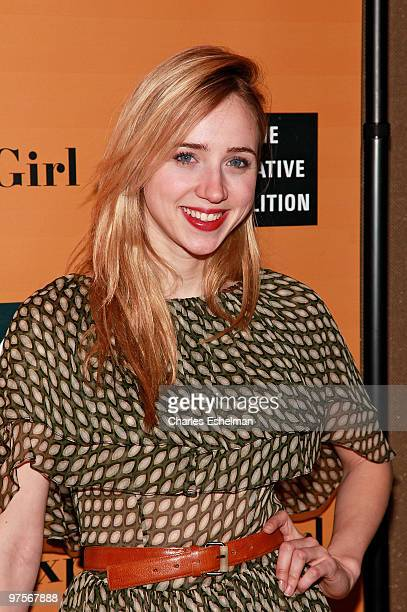 Actress Zoe Kazan attends the premiere of 'The Exploding Girl' at the Tribeca Grand Hotel on March 8 2010 in New York City