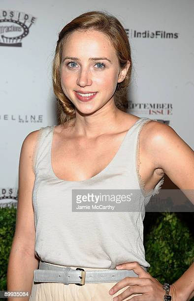Actress Zoe Kazan attends the premiere of 'The September Issue' at The Museum of Modern Art on August 19 2009 in New York City