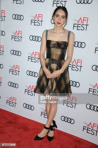Actress Zoe Kazan attends the screening of 'Call Me By Your Name' at AFI FEST 2017 Presented By Audi at TCL Chinese Theatre on November 10 2017 in...