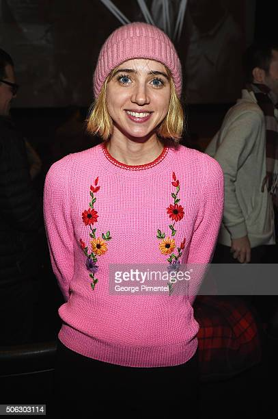Actress Zoe Kazan attends the 'Swiss Army Man' Premiere during the 2016 Sundance Film Festival at Eccles Center Theatre on January 22 2016 in Park...