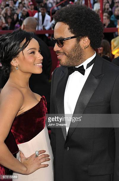 Actress Zoe Kravitz and father singer/actor Lenny Kravitz arrive at the 82nd Annual Academy Awards held at Kodak Theatre on March 7 2010 in Hollywood...