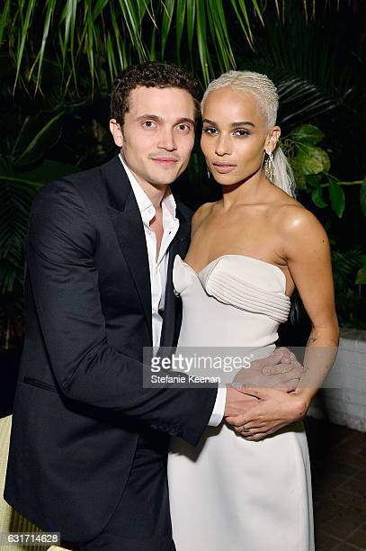Actress Zoe Kravitz and Karl Glusman attend ELLE's Annual Women In Television Celebration 2017 at Chateau Marmont on January 14, 2017 in Los Angeles,...