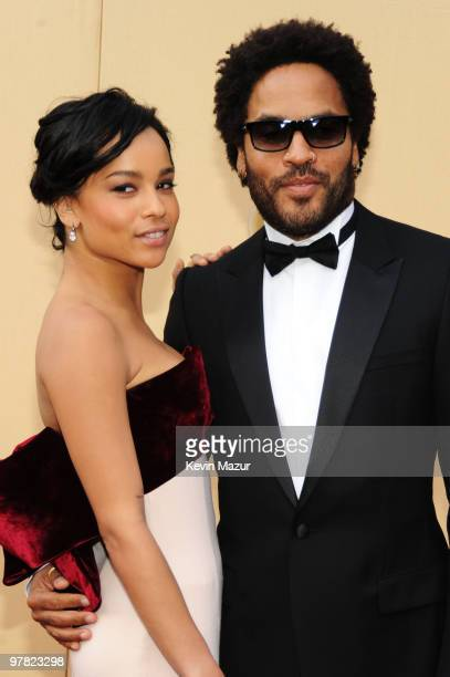 Actress Zoe Kravitz and musician Lenny Kravitz arrive at the 82nd Annual Academy Awards at the Kodak Theatre on March 7 2010 in Hollywood California