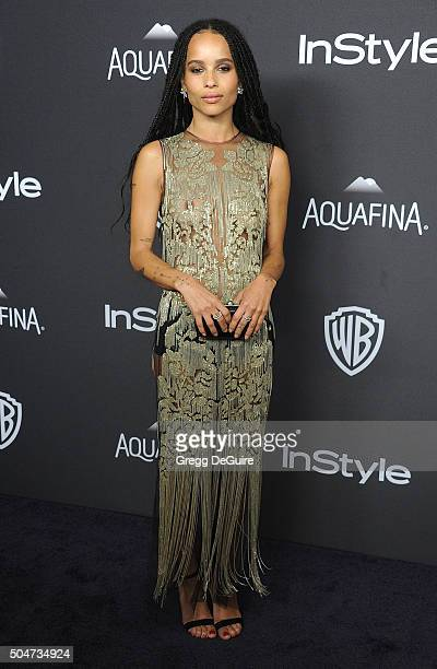 Actress Zoe Kravitz arrives at the 2016 InStyle And Warner Bros 73rd Annual Golden Globe Awards PostParty at The Beverly Hilton Hotel on January 10...
