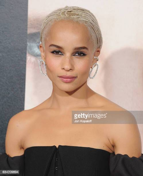 Actress Zoe Kravitz arrives at the Los Angeles premiere 'Big Little Lies' at TCL Chinese Theatre on February 7 2017 in Hollywood California