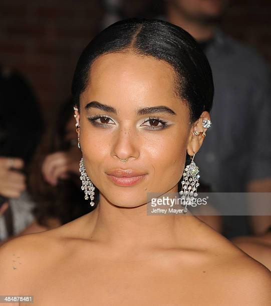 Actress Zoe Kravitz arrives at the Los Angeles premiere of 'Divergent' at Regency Bruin Theatre on March 18 2014 in Los Angeles California