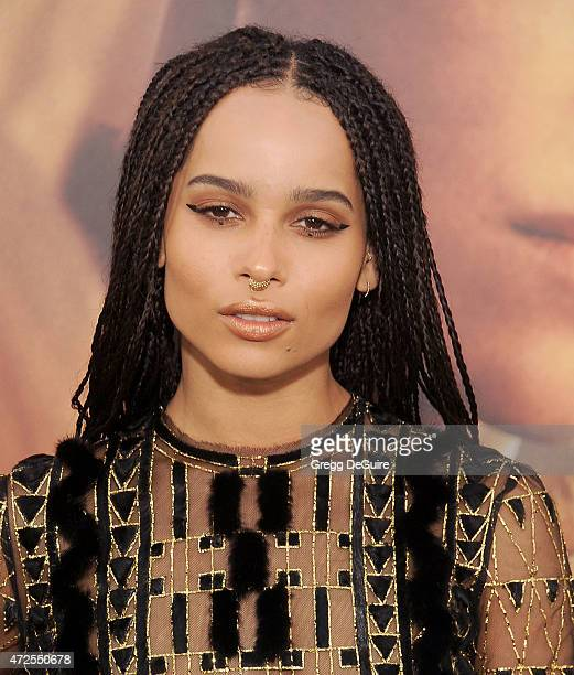 Actress Zoe Kravitz arrives at the Los Angeles premiere of Mad Max Fury Road at TCL Chinese Theatre IMAX on May 7 2015 in Hollywood California