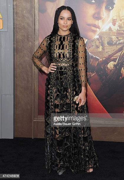 Actress Zoe Kravitz arrives at the Los Angeles premiere of 'Mad Max: Fury Road' at TCL Chinese Theatre IMAX on May 7, 2015 in Hollywood, California.