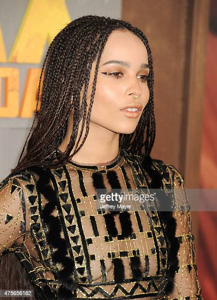 Actress Zoe Kravitz arrives at the Mad Max Fury Road Los Angeles Premiere at TCL Chinese Theatre IMAX on May 7 2015 in Hollywood California